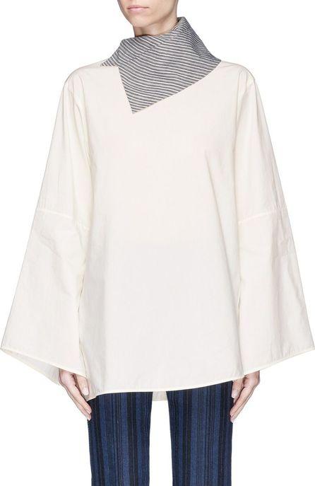 Acne Studios 'Bep Soft Pop' scarf collar poplin shirt