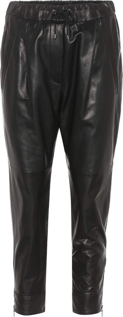 Brunello Cucinelli Leather trackpants
