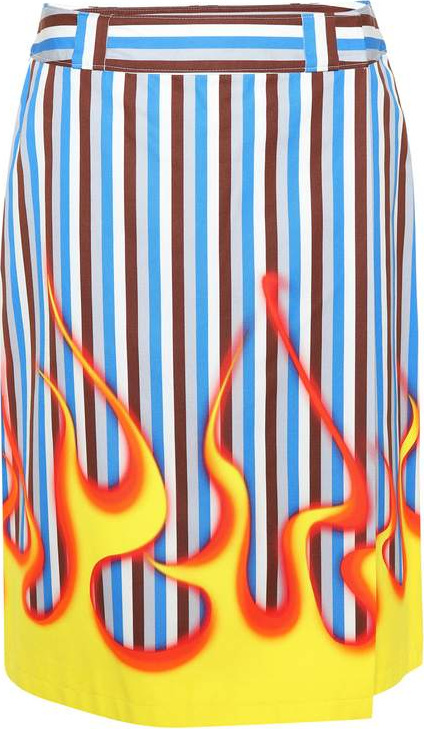 Prada Striped cotton skirt