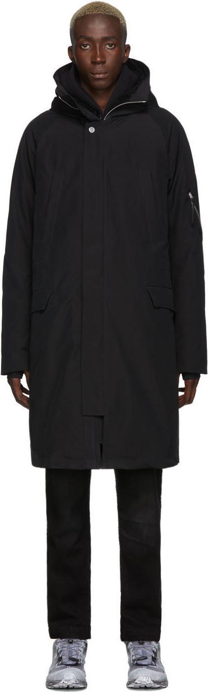 11 By Boris Bidjan Saberi Black Insulated Hooded Coat