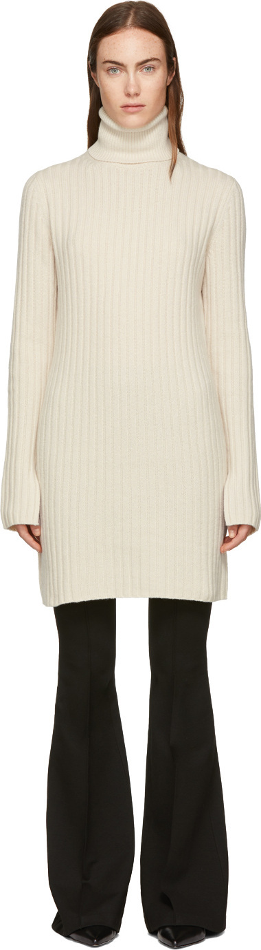 Joseph White Wool Tunic Dress