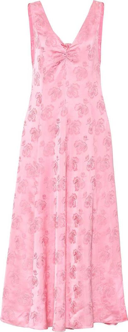 Alexachung Satin jacquard maxi dress