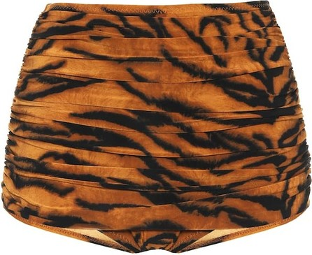 Norma Kamali Exclusive to Mytheresa – Bill tiger-print high-rise bikini bottoms
