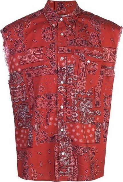 Isabel Marant Sleeveless paisley shirt