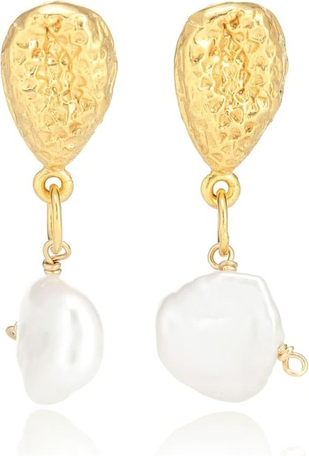Alighieri Exclusive to Mytheresa – The Late Night Twinkling 24kt gold-plated earrings with pearls