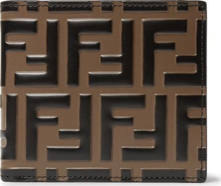 Fendi Logo-Embossed Leather Billfold Wallet