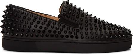 Christian Louboutin Black Roller-Boat Sneakers