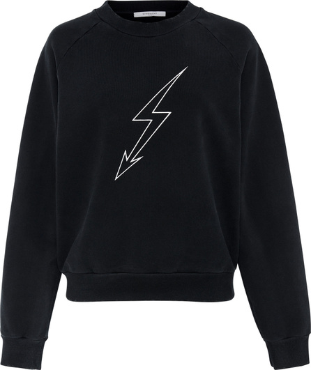 Givenchy Lightening Bolt Cotton-Jersey Sweatshirt