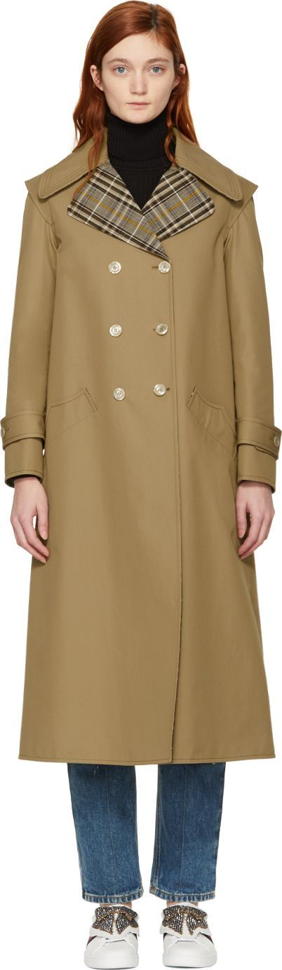 Gucci Beige 'Tulipa Orphanidea' Moth Trench Coat