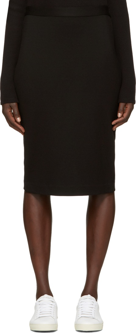 6397 Black Stretch Pencil Skirt