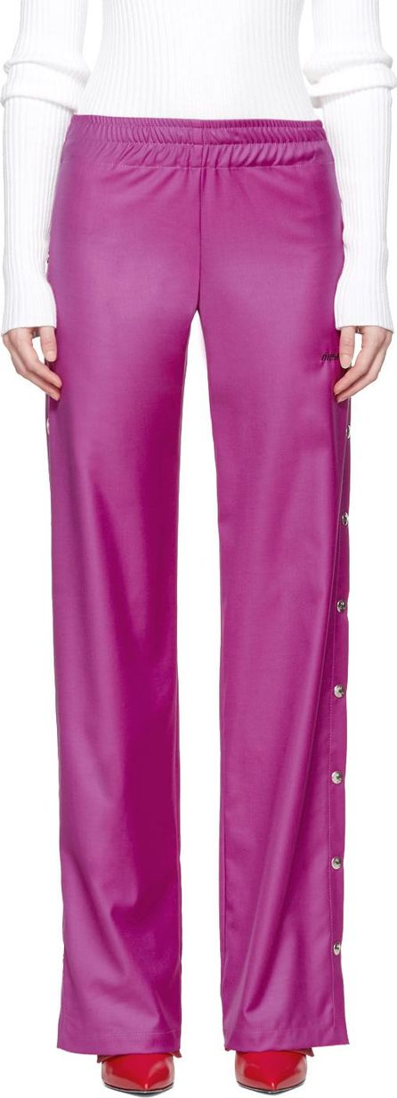Misbhv Pink Wool Button-Up Trousers