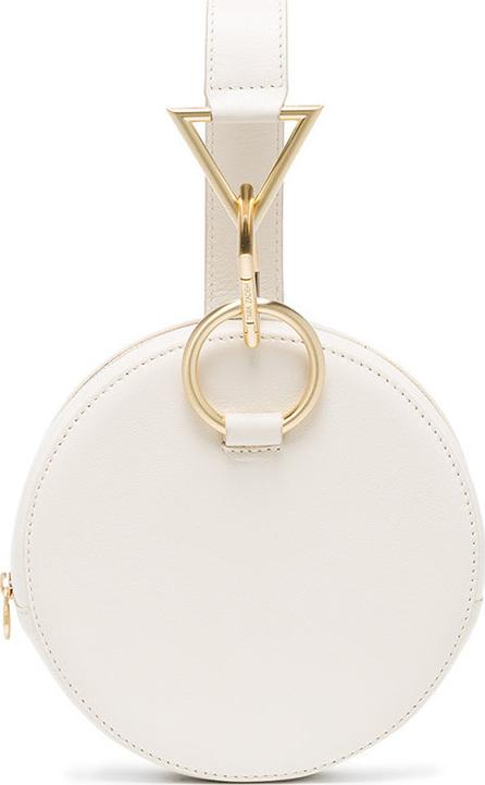 Tara Zadeh White Azar leather bracelet bag