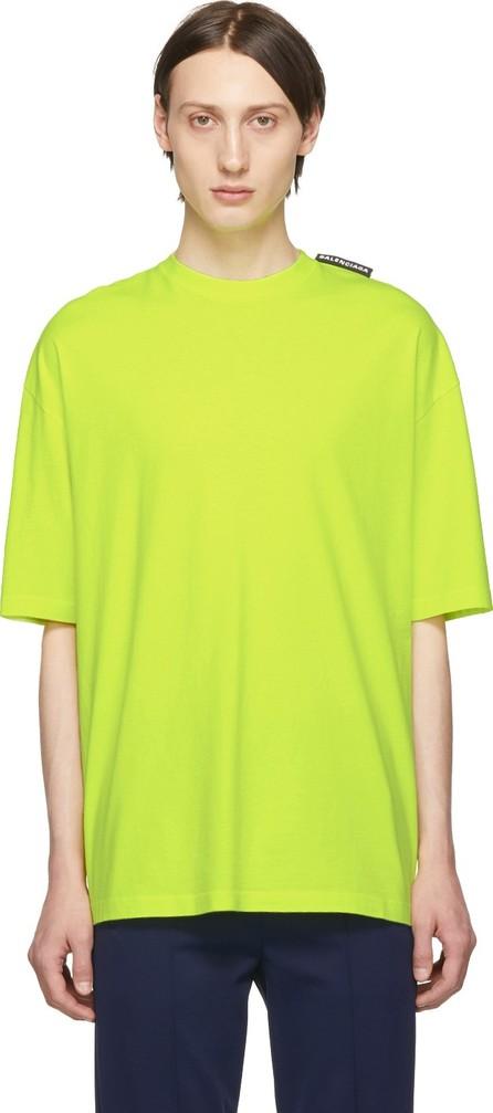 Balenciaga Yellow Logo Tab T-Shirt
