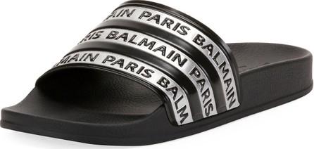 Balmain Men's Calypso Logo-Printed Slide Sandals