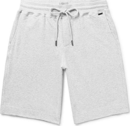 Hanro Mélange Fleece-Back Stretch-Cotton Jersey Drawstring Shorts