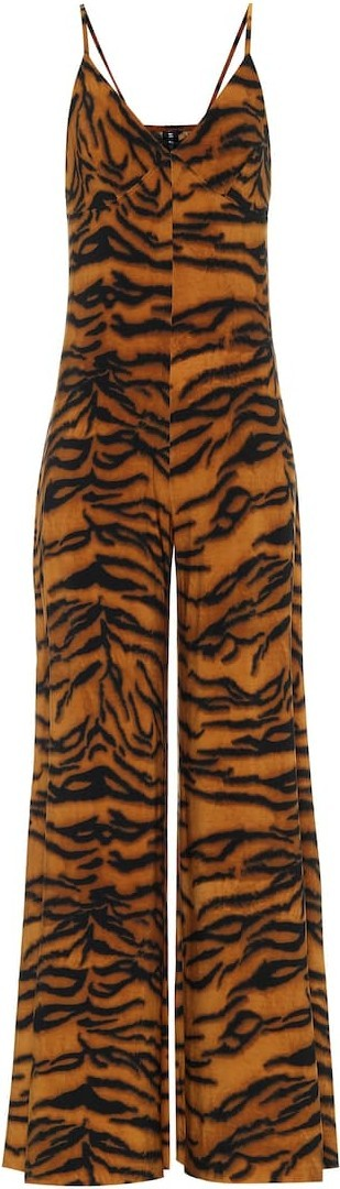 Norma Kamali Exclusive to Mytheresa – Tiger-print jumpsuit