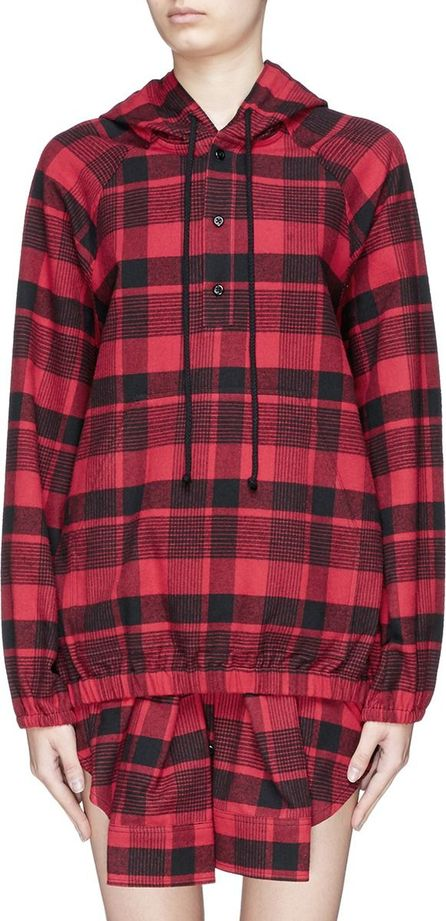 Adaptation Tartan plaid cotton flannel hoodie