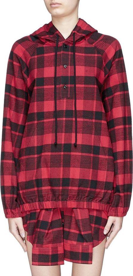 Adaptation Tartan plaid cotton flannel hoodie