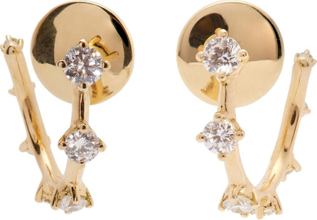 Fernando Jorge Sequence 18kt gold and diamond hoop earrings