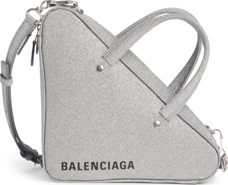 Balenciaga Extra Small Glitter Triangle Leather Bag