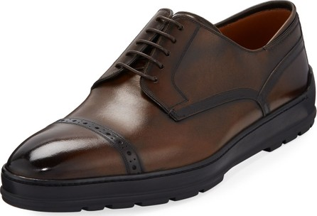 Bally Men's Reigan Cap-Toe Leather Oxfords