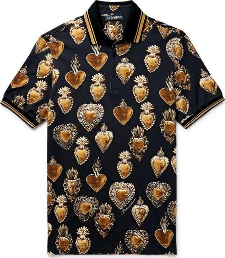 Dolce & Gabbana Printed Cotton-Piqué Polo Shirt