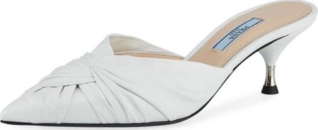 Prada Twisted Leather Slide Mule