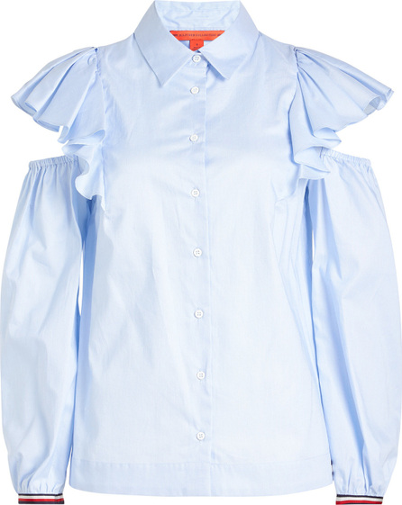 Hilfiger Collection Cotton Shirt with Cold Shoulders