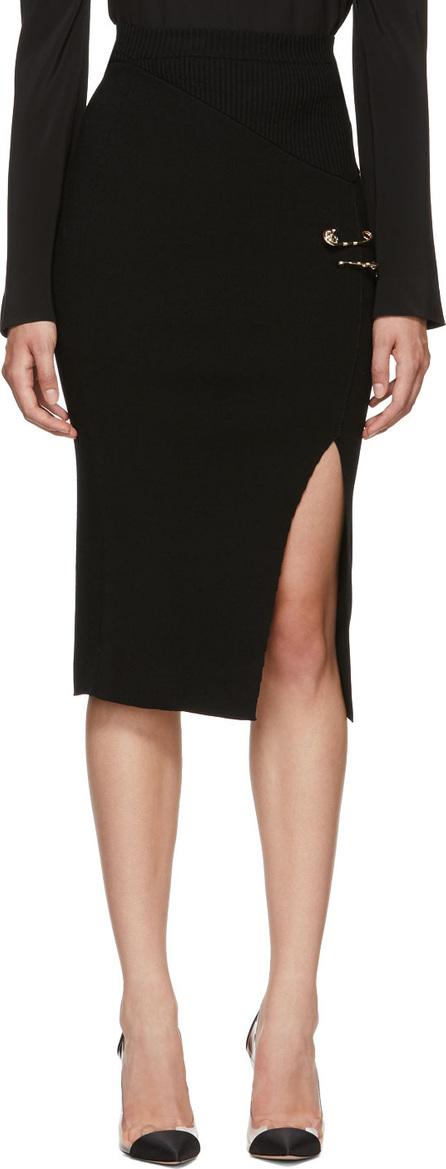 Versus Versace Black Slit Rib Knit Skirt