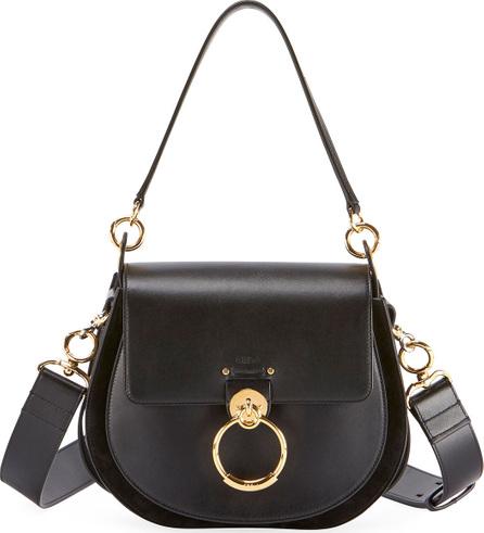 Chloe Tess Large Leather/Suede Camera Crossbody Bag