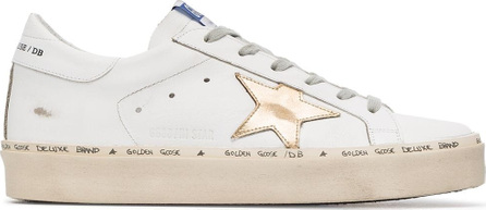 Golden Goose Deluxe Brand Leather gold hi star trainers