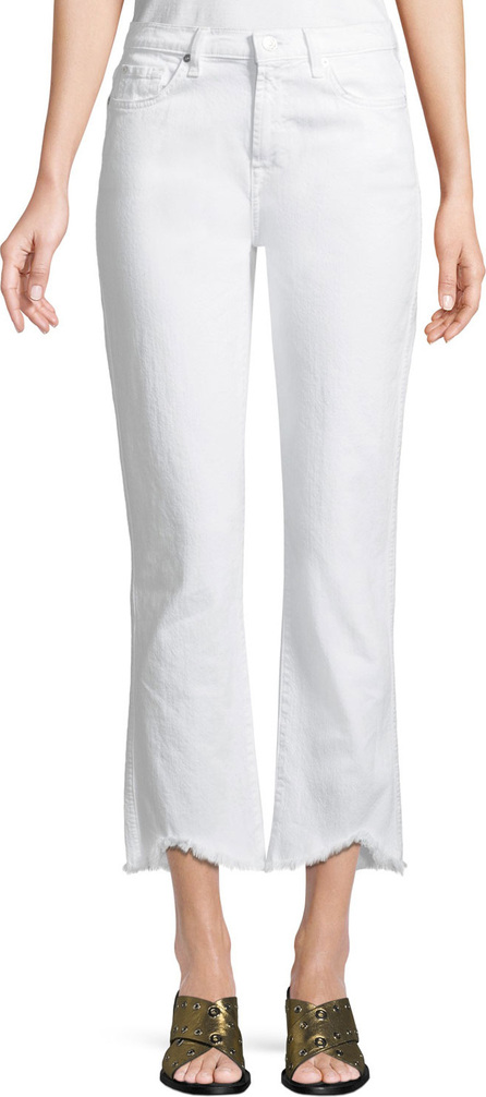 7 For All Mankind Edie Cropped Straight-Leg Jeans with Wave Hem