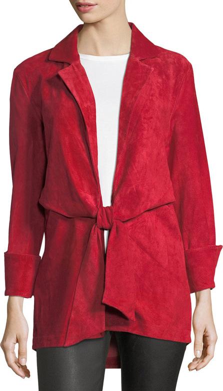 Finley Sylvia Tie-Front Suede Jacket