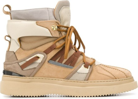 Buscemi Panelled mountain boots