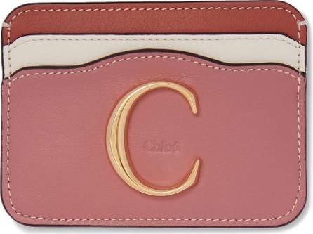Chloe Chloé C color-block leather cardholder