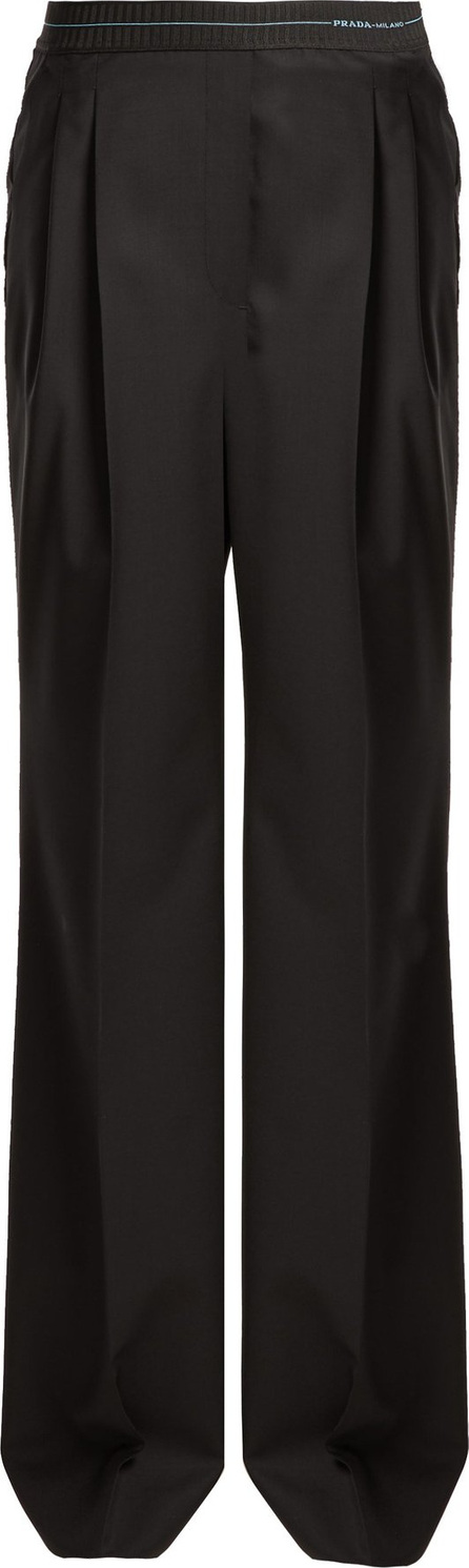 Prada High-rise wool trousers