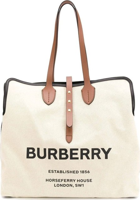 Burberry London England logo tote bag