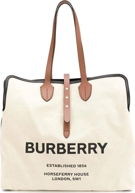 Burberry London England logo tote bag