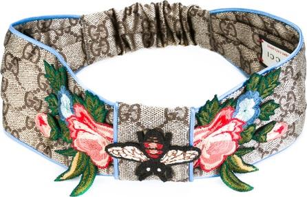 Gucci GG Supreme embroidered headband
