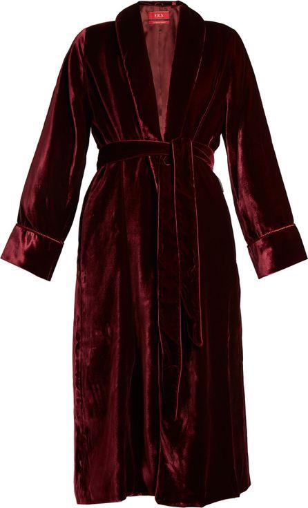 F.R.S For Restless Sleepers Aegle belted velvet robe