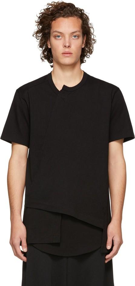 Comme Des Garçons Homme Plus Black Asymmetrical T-Shirt
