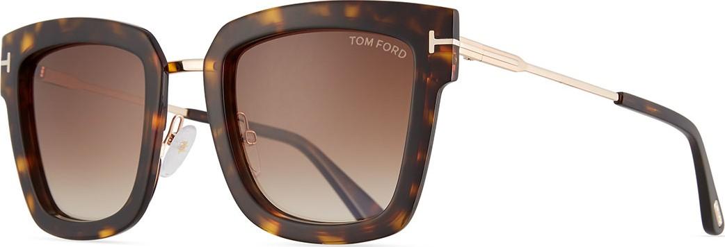 460ea9d4ba TOM FORD Lara Acetate   Metal Square Sunglasses - Mkt
