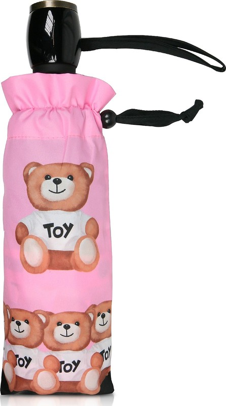 Moschino Bears in a Row Pink Umbrella
