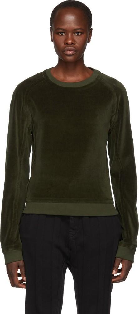 Haider Ackermann Khaki Velvet Sweatshirt