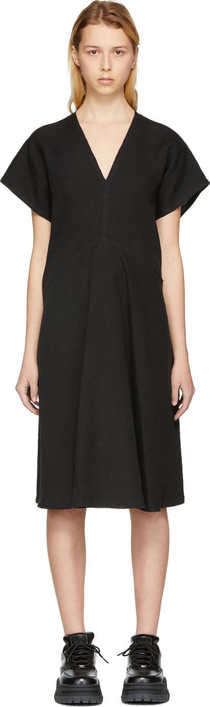 Acne Studios Black Jessa Raw Linen Dress
