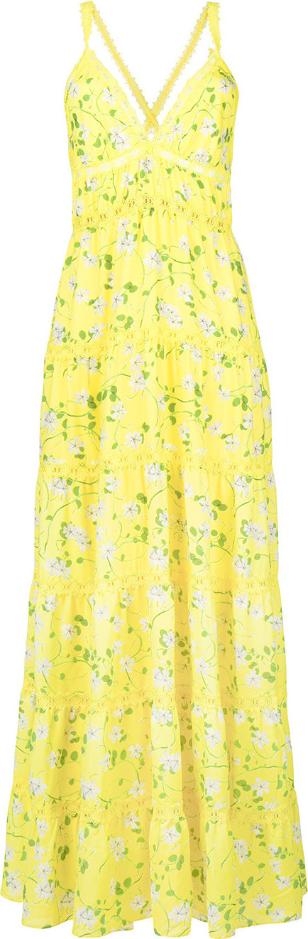 Alice + Olivia Long floral print dress