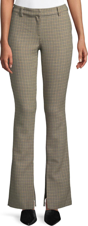 A.L.C. Javier Split Flare-Leg Houndstooth Pants