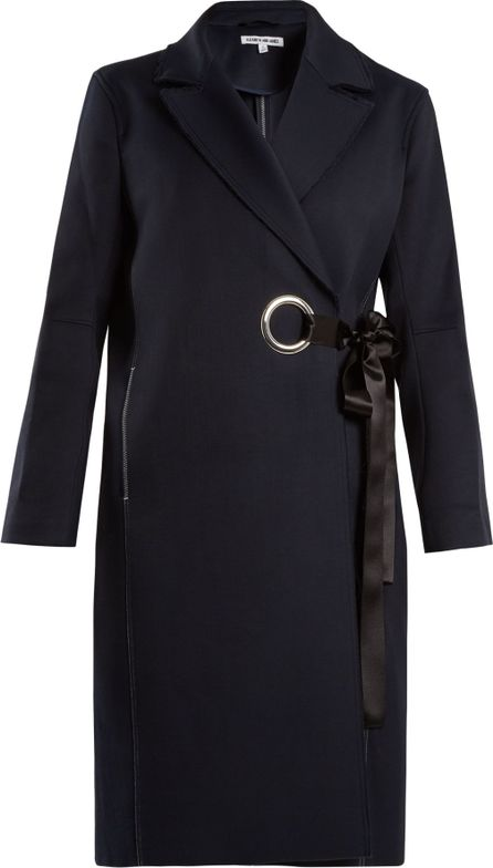 Elizabeth And James Simon raw-edge side-tie coat