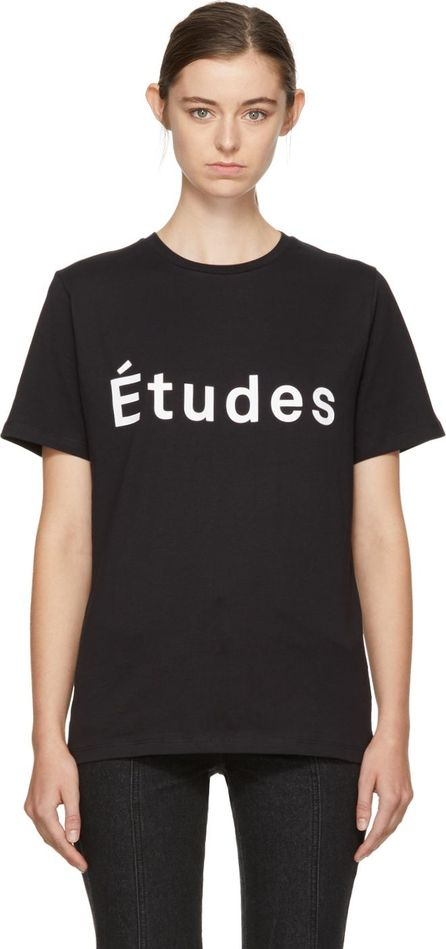 Etudes Black Page Logo T-Shirt
