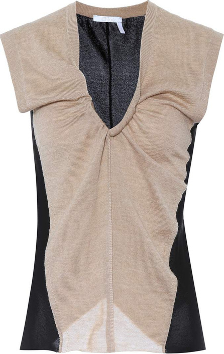 Chloe Wool and jersey top